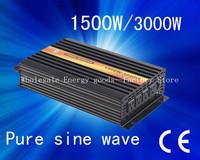 Off-grid DC12v/24v/48v AC100v-120v/220v-240v 1500w pure sine wave frequency invertor/solar invertor/solar inverter(CTP-1500W)