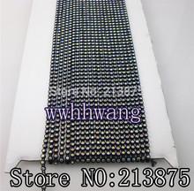 wholesale black rhinestone chain