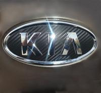 Kia k3 steering wheel carbon fiber labeling k3 carbon paper label KIA k3 refires emblem