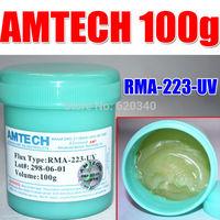 Free shipping 2/pcs AMTECH RMA-223-UV No-Clean BGA Reballing Solder Ball Repair Solder Soldering Flux Paste soldering flux 100g