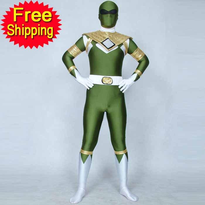 Green Power: Adult Green Power Ranger Costume