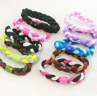 Hair Elastic Ties Ponytail Holder ponies scrunchies girl women hair accessories free shipping Elastic Hair Loop30pcs/lot