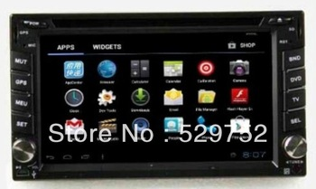 Free shipping High Resolution Touch Screen  Andriod  system universal 2 din car dvd