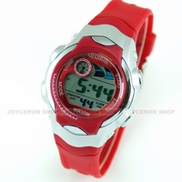 Free shipping Red Athlete Cycling Racing Sport Alarm Date / Day Girl Women LCD watch WWC0005 watch wholesale