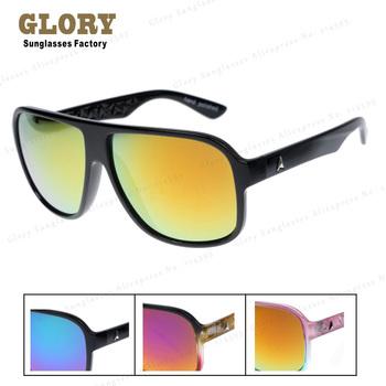 New 2014 Hot Selling Flat Top Designer Oculos Outdoors Unisex Eyeglsses W Mirror Lenses Retro Sunglasses