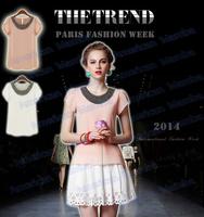 XS-4XL!!2014 Women summer plus size chiffon casual vintage Blusas/Pullover casual BODY chiffon blouse femininas