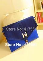 New 2014 women messenger bags,fashion vintage Day Clutch,blue frosted bump women clutch,women handbag evening bag,free shipping