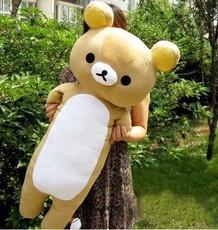 Large Rilakkuma pillow, sleeping pillow elongated easily bear plush toy doll cute boyfriend pillow(China (Mainland))