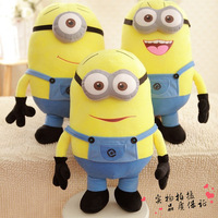 25cm Despicable Me 2 plush toys(3 pieces/lot) , Precious Milk Dad Huang Doudou Capsule 3D glasses wholesale Christmas doll