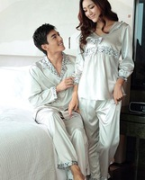 Comfortable high quality  lovers sleepwear lounge clothes long-sleeve girls boys pajamas set nighty for male and female AP0110