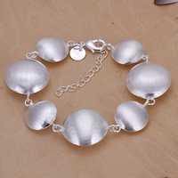 Lose Money!!Wholesale 925 Silver Bracelets & Bangles,925 Silver Fashion Jewelry Sand round cow Bracelet SMTH208