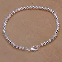 Lose Money!!Wholesale 925 Silver Bracelets & Bangles,925 Silver Fashion Jewelry 4M beads Bracelet SMTH198