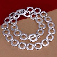 Lose Money!!Wholesale 925 Silver Necklace & Pendant,925 Silver Fashion Jewelry Full Quartet Necklace SMTN033