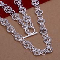 Lose Money!!Wholesale 925 Silver Necklace & Pendant,925 Silver Fashion Jewelry Slight Circle Necklace SMTN268