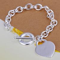 Lose Money!!Wholesale 925 Silver Bracelets & Bangles,925 Silver Fashion Jewelry Centre Tag TO Bracelet SMTH274