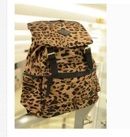 Limited edition new arrival bags casual leopard print backpack vintage fashion preppy style big bag  leopard backpack
