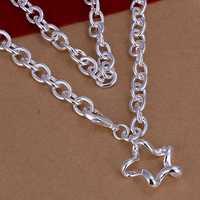 Lose Money!!Wholesale 925 Silver Necklace & Pendant,925 Silver Fashion Jewelry Wave Cricle Necklace SMTN250