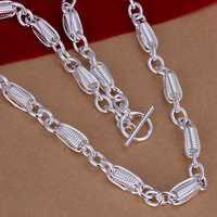 Lose Money!!Wholesale 925 Silver Necklace & Pendant,925 Silver Fashion Jewelry To Twist Bold  Necklace SMTN244