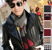 2013 New Fashion Hot Sale Brand Autumn and Winter Cashmere Scarf Shawl Man Silk Scarf 186x32cm Free Shipping