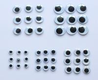 Plastic eye with self-adhesive 500pcs/lot(mix 5 sizes.),Wiggle Eyes forDoll Toy diy