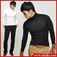 2014 Fall New Casual Men's Long Sleeves Turtleneck T-Shirts Slim Fit Stylish Dress T Shirts Big size 4 Colors Asia S-XXXL C541
