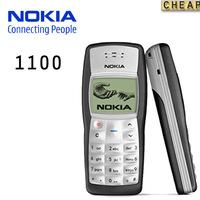 original Nokia 1100 unlocked GSM mobile phone with russian menu multi languages!free shipping Refurbished