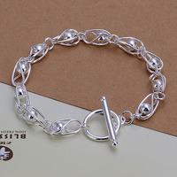 Lose Money!!Wholesale 925 Silver Bracelets & Bangles,925 Silver Fashion Jewelry light beads TO Bracelet SMTH294