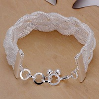 Lose Money!!Wholesale 925 Silver Bracelets & Bangles,925 Silver Fashion Jewelry Mesh Bracelet SMTH253