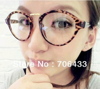 Free dropshipping Hotsale 2013 Vintage Glasses women brand designer Round optical eye glasses Alloy Frames G130