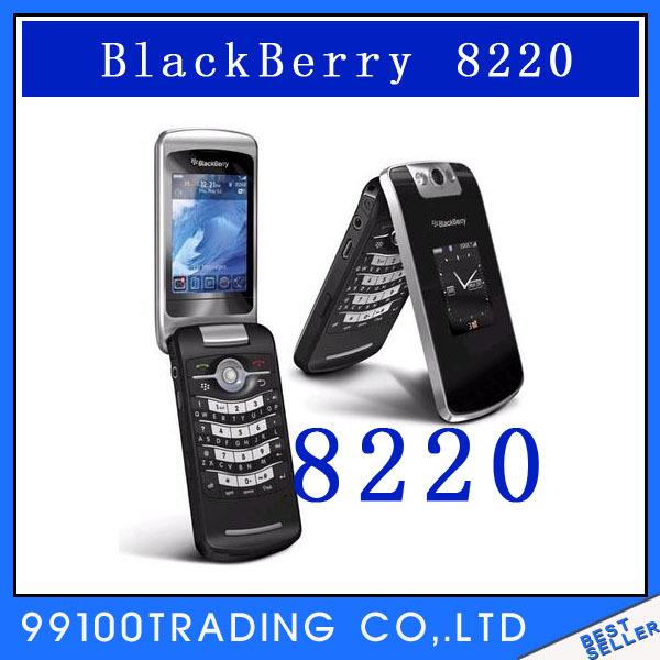 Unlocked BlackBerry Pearl Flip 8220 Cell Phone Bluetooth Free Shipping Refurbished(China (Mainland))