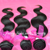 Muse Hair: Queen Hair Brazilian Body Wave Human Hair Weaving 3pcs/lot  Natural Black about 3.5oz/pc Star Hair Cheap Price