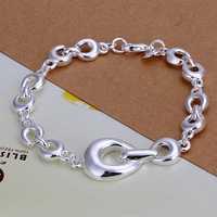 Lose Money!!Wholesale 925 Silver Bracelets & Bangles,925 Silver Fashion Jewelry Size Horseshoe Bracelet SMTH292