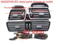 OEM VW Passat B6 B7L CC R36 Chrome Air Vent LED Red Light 3pcs 3AD 819 701+3AD 819 702+3AD 819 728+3AA 971 315