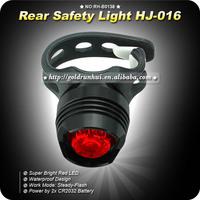 2 pcs/lot Red Led Bright Waterproof Aluminium Light Biking Cycling Safety Front Rear Flash Lamp