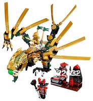 Bela Building Blocks Hot Toy The Golden Dragon Ninjago Educational Construction Bricks Toys For Children Model Building Gift