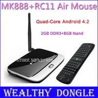 CS918 New MK888 TV Box Android 4.2.2 OS 2GB 8GB RK3188 Quad Core Cortex A9 RK3188 MINI PC+2.4GB Wireless Keyboard RC11