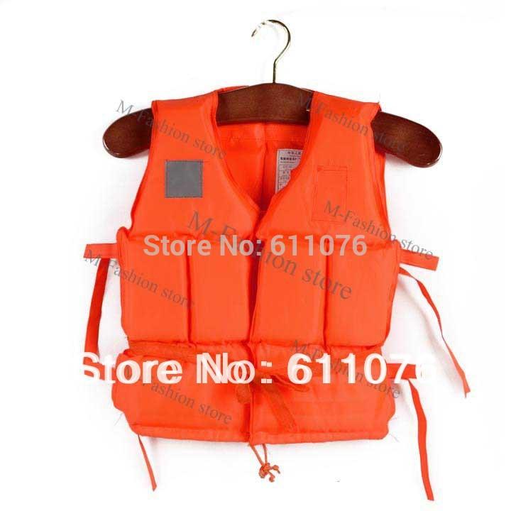 Professional Children Kids Orange Foam Swimming Life Vest Jacket With Whistle 14912(China (Mainland))