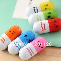 6pcs free shipping  lovely stationery  randomly candy color BallPoint Pens Cartoon Stretchy ball pen 5.4*2.4cm