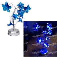 Mini Lily Flower Tree LED Night Light Lamp For Home Desk Festival Decoration Blue Free Shipping 1pcs/lot