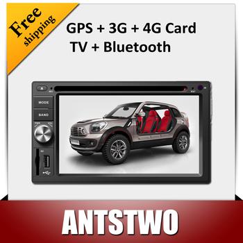 High quality 7'' touch screen of Universal 213 car dvd,GPS navigator,radio,bluetooth,MP3,MP4,TV function