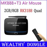MK888 RK3188 Quad Core Cortex A9 MINI PC XBMC Android TV BOX 2GB RAM 8GB ROM+ T3 Wireless Keyboard