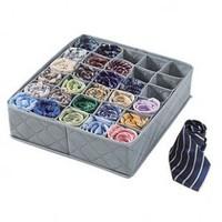 Home Storage supply  Bamboo Charcoal 30 cell Foldable Underwear Bra Socks Tie Storage Organizer Divider Box Case