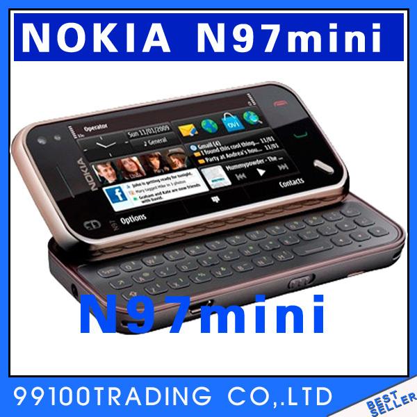 Original Unlocked Nokia N97mini 8G WIFI 5MP 32GB N97 32G Mobile phone Symbian S60 Good quality refurbished Free Shipping(China (Mainland))