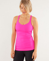 lulu lemon Lululemon vest tank build in bra tops active tanks solid Lady Sport yoga matching Women's popular rose red color 483