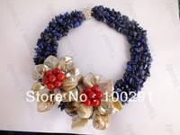 New Design Fashion stone flower necklace