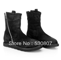 Winter british style vintage men's boots thermal plus cotton men's boots genuine leather male boots snow men's boots high men's