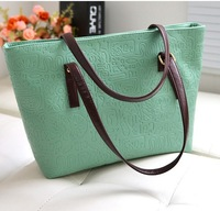 2014 Women Handbag PU Leather Handbags Oracle Vintage Women Leather Handbags Shoulder Bags Casual  High Quality Free Shipping