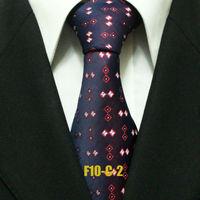 Mens Popular Purple Violette Geometric Neckties For Men Business Check Wedding Groom Ties For Shirt Wide Gravatas 10CM F10-C-2