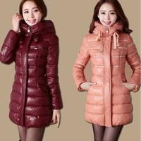 Sweet Medium-Long Down Coat Female Winter Women'S 2013 Clearance Wadded Jacket