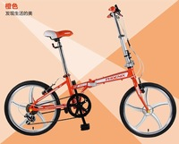 20 and 16 inch folding bike,carbon steel bicycle frame and rear rack,V brake,rider height 140-175cm,send by china post sea ship